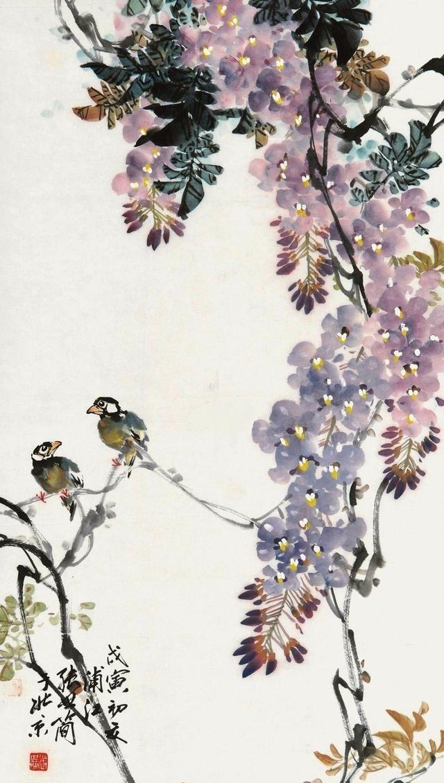 大师彩手绘花鸟