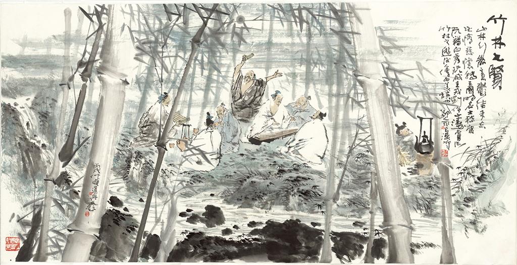 皇宫手绘线描稿