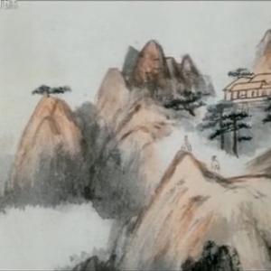 名家名画——张大千《山水册页》