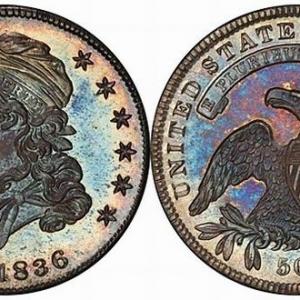 PCGS-MS66+1836美国50美分硬币