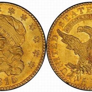 1815年美国自由帽半鹰金币