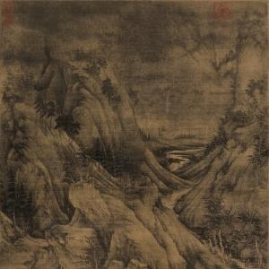 传世山水名画《溪岸图》作者到底是谁