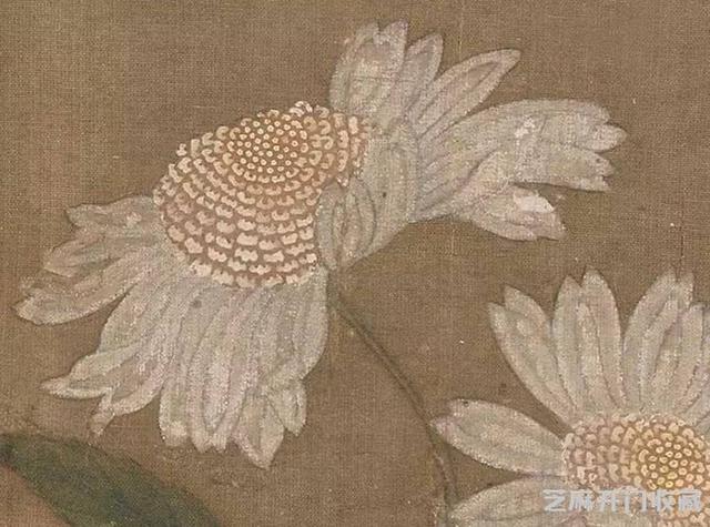 「国画精赏」宋 · 朱绍宗《菊丛飞蝶图》高清详解