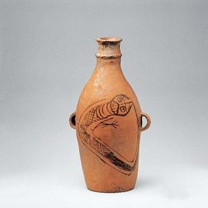 新石器时代双耳鲵鱼纹彩陶瓶