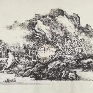 温香柱山水画欣赏