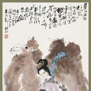 韩敏人物作品画欣赏