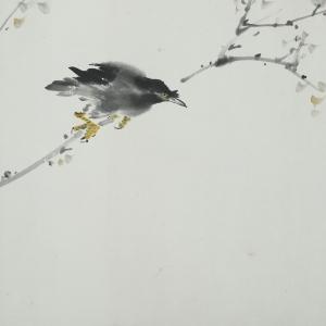 刘既明花鸟画作品高清图