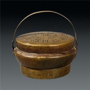 铜手炉成古人的取暖器具