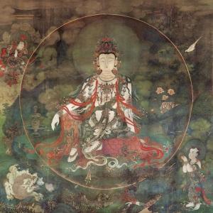 明法海寺壁画《水月观音像》