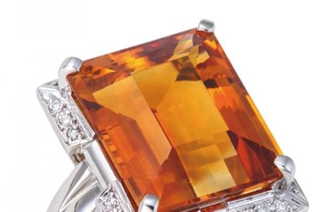 黄水晶戒指选购方法及价格