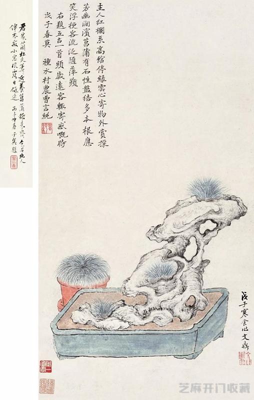 [广州古董拍卖公司]赏石也能作画 是文人的无聊还是高雅