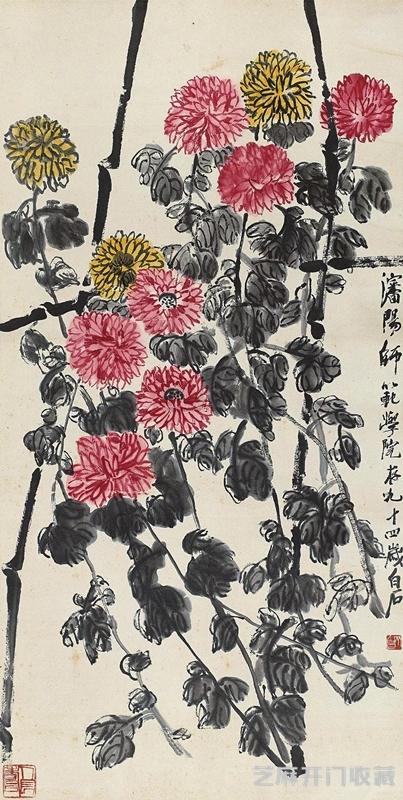 「湘绣图片」怎么画国画菊花 这些事项要注意